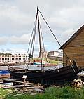 Шняка в Соловецком морском музее. Лето 2008 г.